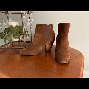 Vince Camuto brown suede booties